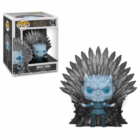figurine pop game of thrones night king sur le trone de fer ludygame